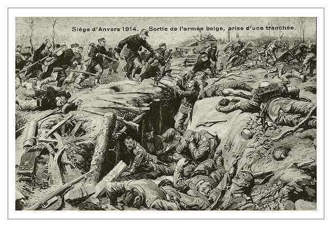 Beļģu kājnieku pretuzbrukums pie Antvernenes