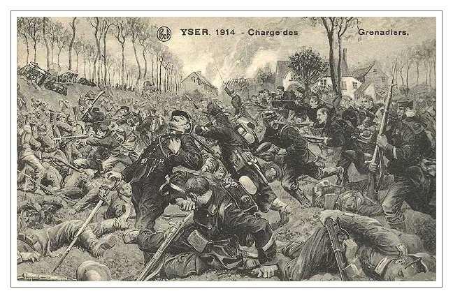 Beļģu grenadieru uzbrukums pie Izeras