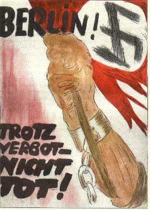 Постер 1928 года. Невзирая на запрет, мы не умерли