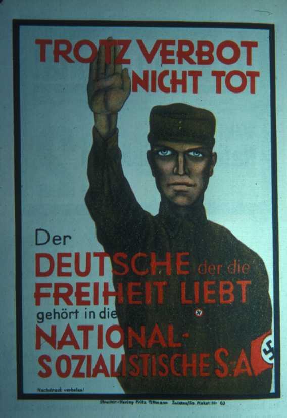 Снова все те же выборы сентября 30-го. Немцы, любящие свободу, вступают в СА