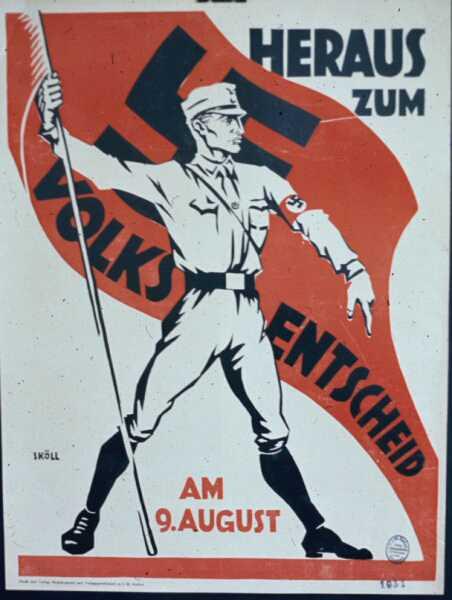 1931 год. Референдум по поводу роспуска парламента Пруссии. Приходите на референдум 9 августа