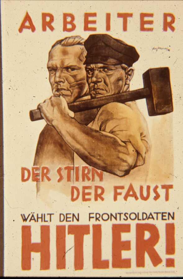 1932 год. Рабочих призывают голосовать за Гитлера
