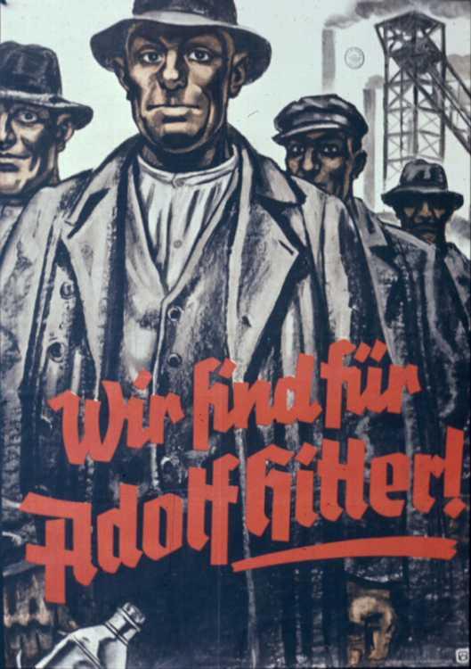 Президентские выборы 1932 года. Мы за Адольфа Гитлера