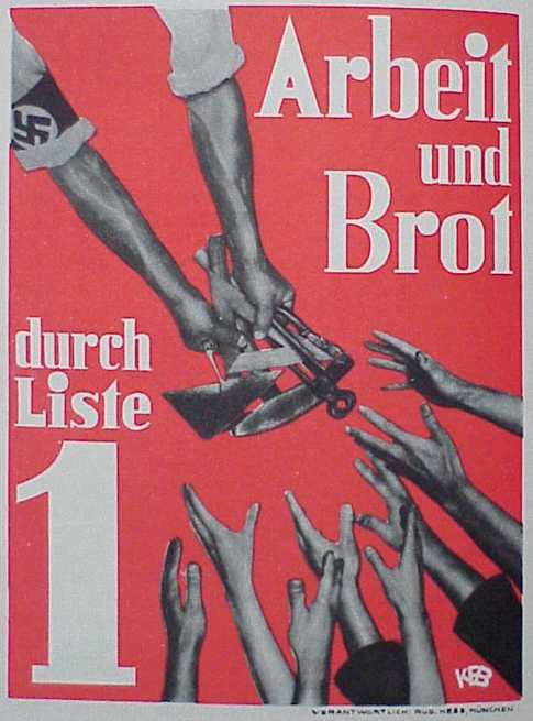 Ноябрь 1932 года. Работа и хлеб. Избирательный список номер 1