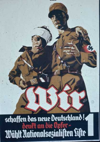 Ноябрь 1932 года. Мы строим новую Германию. Подумайте о самопожертвовании. Голосуйте за национал-социалистов