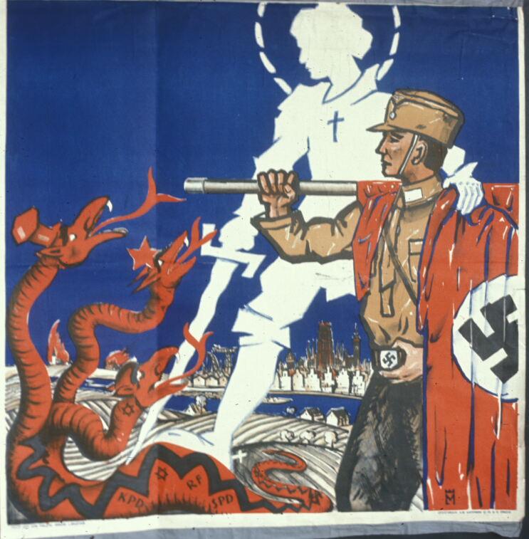 Точная дата создания этого плаката неизвестна, но скорее всего он появился до 1933 года.