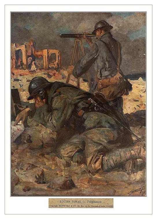 Артиллерийские наблюдатели за работой