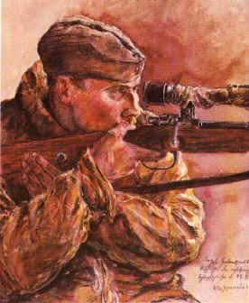 В. Херрман. Снайпер. 1943