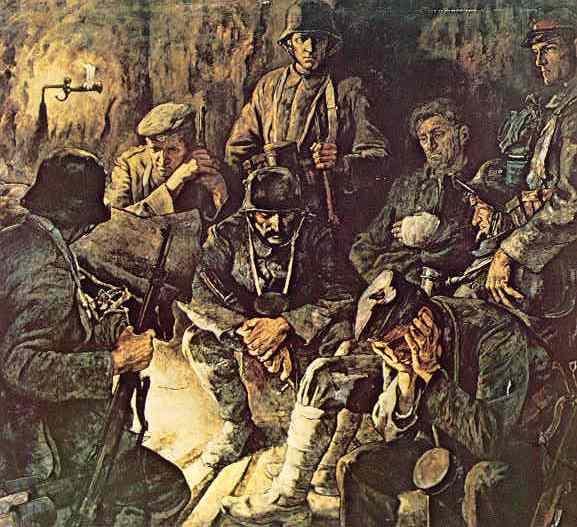 Отдых (картина нарисована в годы Второй мировой, но герои картины - немецкие солдаты предыдущей мировой войны)