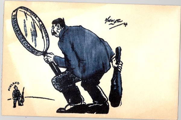 Карикатуры времён советско-финской войны