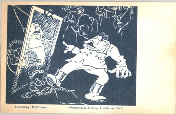немецкая карикатура 1937 года.