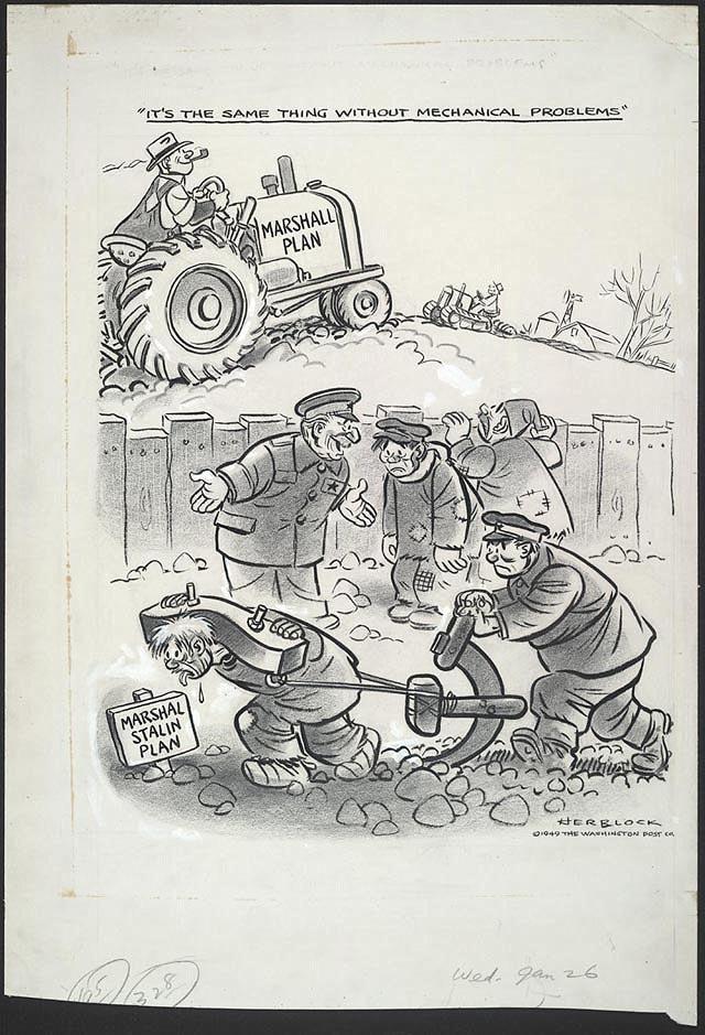 План Маршалла - тоже самое, что план маршала Сталина, но без проблем с механизацией