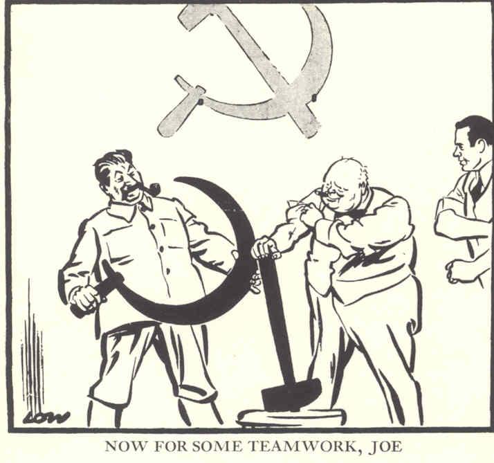 Черчилль говорот Сталину - а теперь немного командоной работы