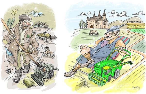 Украинское и европейское село - два параллельных мира