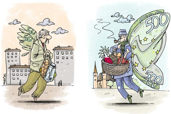 при низких зарплатах цены на продукты на Украине такие же, как в ЕС