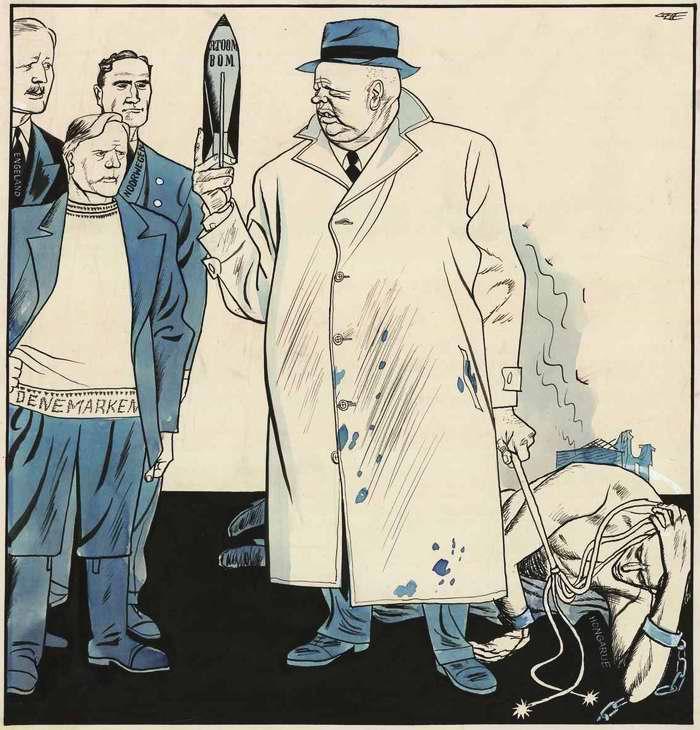 Москва пытается угрожать странам Западной Европы атомной бомбой в случае их попытки вмешаться в венгерский вопрос (1957 год)