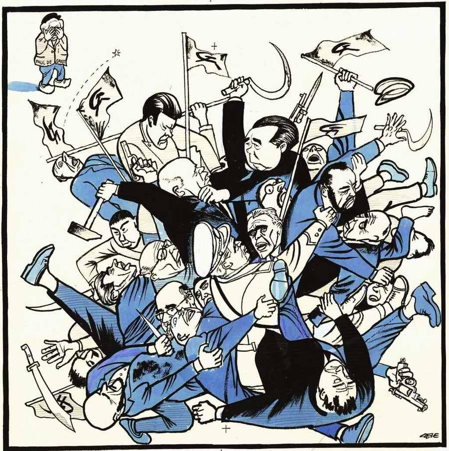 Пролетарии из разных стран дерутся между собой за право лидерства (1963 год)