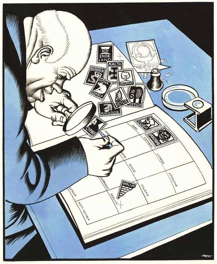 Советский лидер Никита Хрущев - собиратель почтовых марок с изображениями подконтрольных ему стран мира (1963 год)
