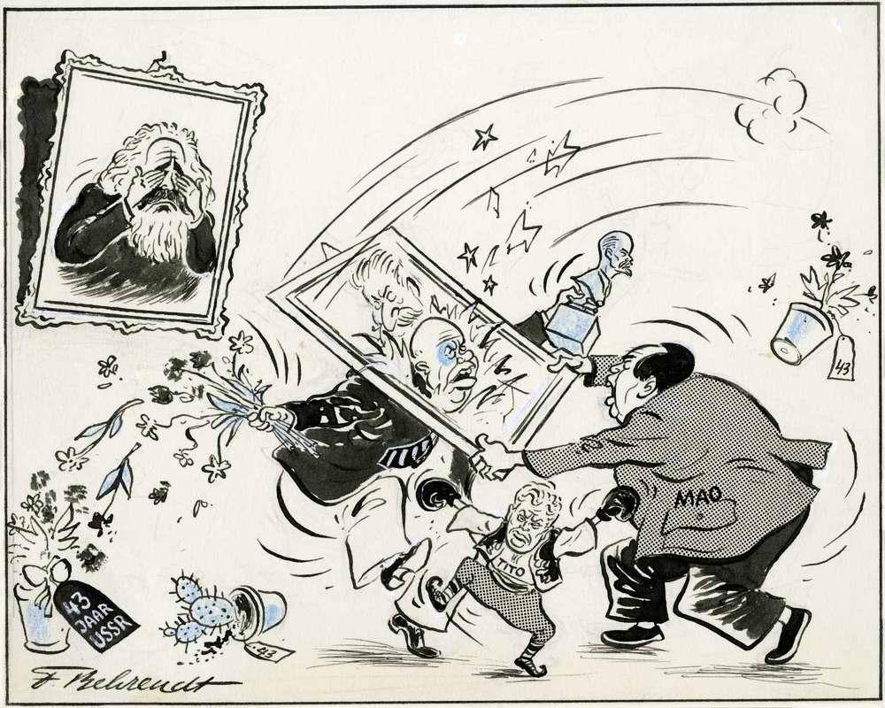 Хрущев и Мао. Вот так поздравление с 43 годовщиной октябрьской революции! (1960 год)