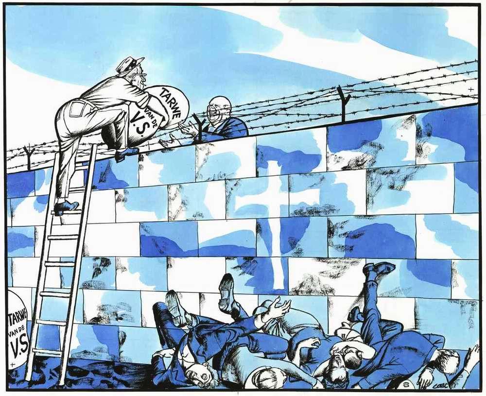 Мирное сотрудничество через Берлинскую стену (в виде согласия США организовать в СССР срочные поставки зерна, не смотря на откровенно недружественный факт разделения Берлина на Восточный и Западный) (1963 год)
