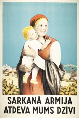 Советские плакаты для жителей латвии