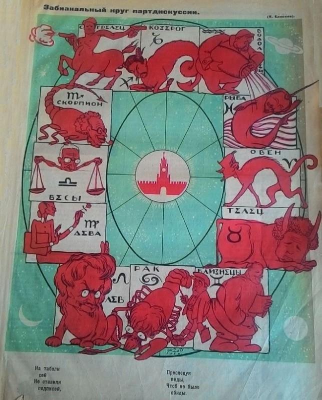 """""""Забиакальный круг партдискуссии"""". Червоний Перець, 1927"""
